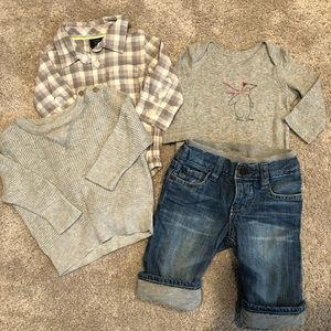 Baby GAP outfit 3-6 months/jeans 6-12 m
